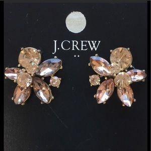 J. Crew Rose Gold Crystal Earrings